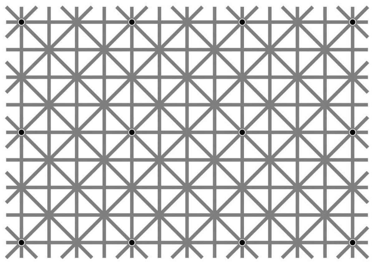 12 black dots