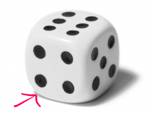 four sided dice for example crossword