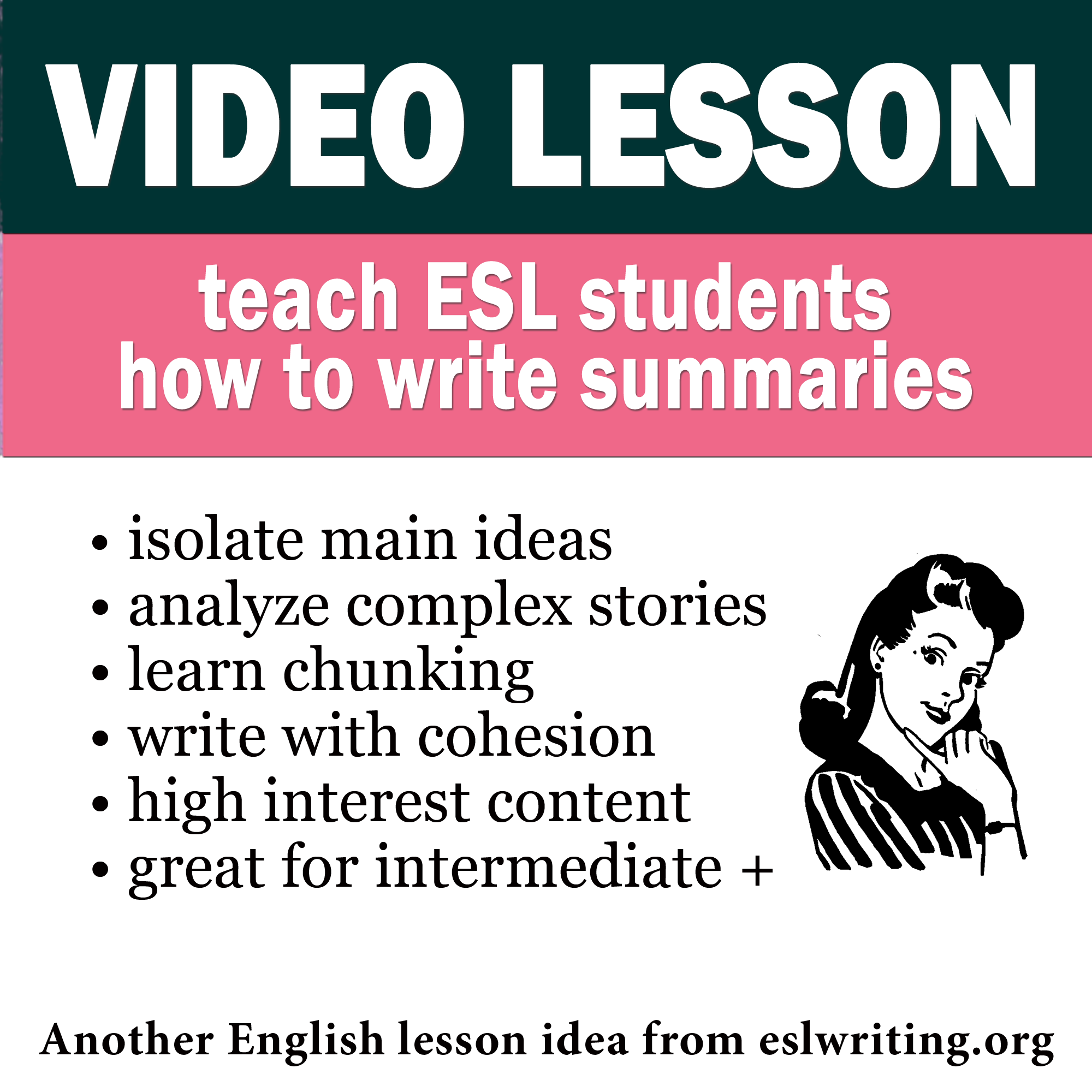 teach english writing  video